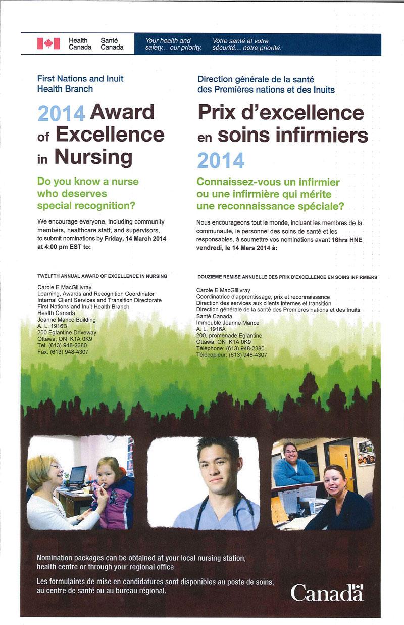 Fnihb Nursing Awards Call For Nominations